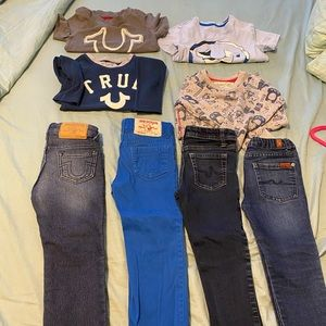 True Religion and other brands boys clothing